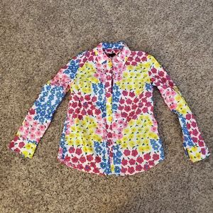 Talbots Long Sleeve Blouse Floral Print